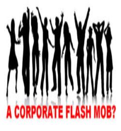 Flash Mob Silhouette